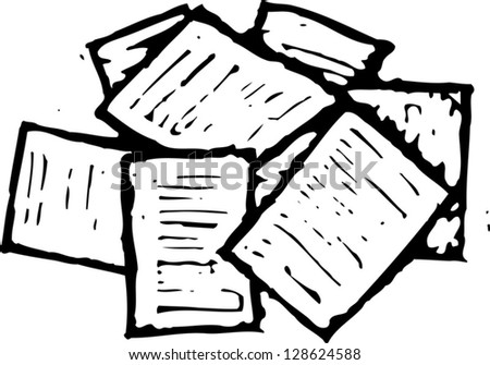 Vector illustration of paperwork