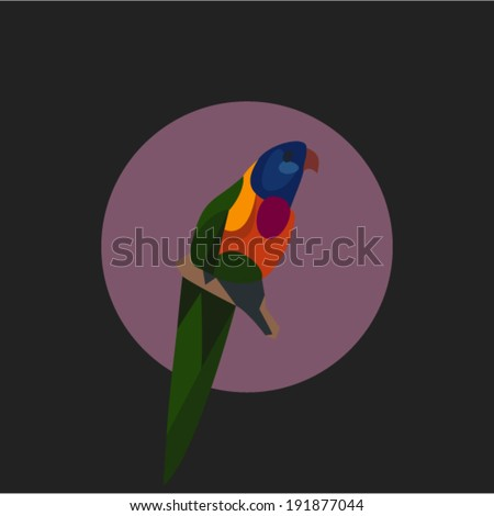Vector illustration of parrot - stock vector