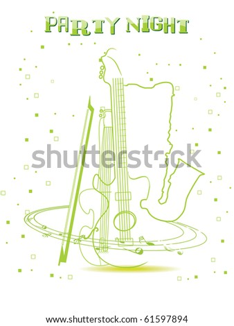 vector illustration of party night background - stock vector