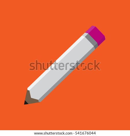 vector illustration of pencil on white background