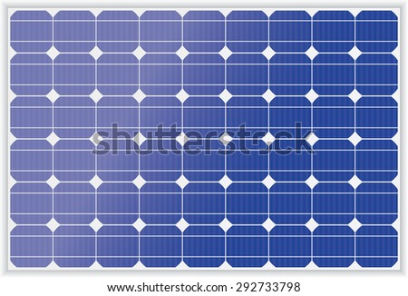 Vector illustration of Photo voltaic panel
