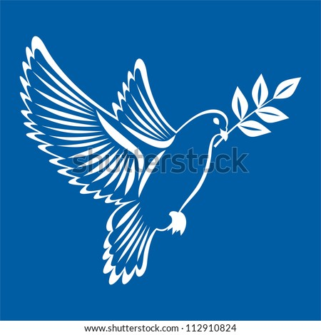Vector illustration of pigeon white - stock vector