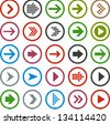 Vector illustration of plain round arrow icons. Eps10. - stock vector