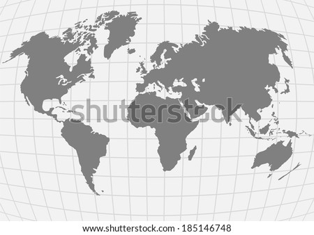 vector illustration of planet earth with continents - stock vector
