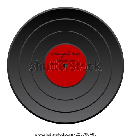 Vector illustration of Plate. Retro. Vintage. Black disc