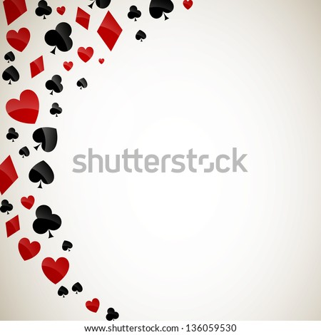 Vector Illustration of Playing Card Suits - stock vector