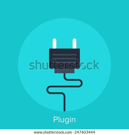 Vector illustration of plugin flat design concept. - stock vector