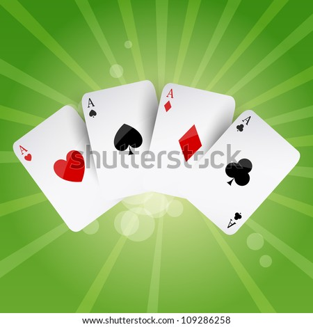 Vector Illustration of Poker Aces - stock vector