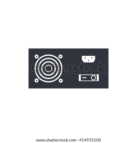 Vector illustration of power supply sign icon on white background. - stock vector