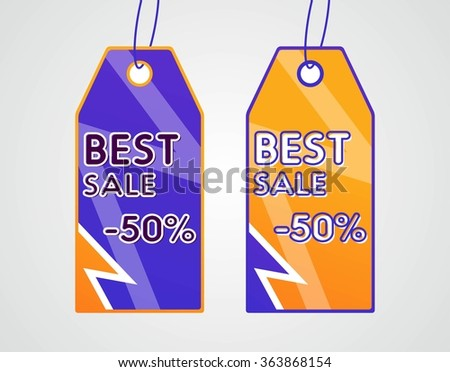 Vector illustration of Price tags set  - stock vector