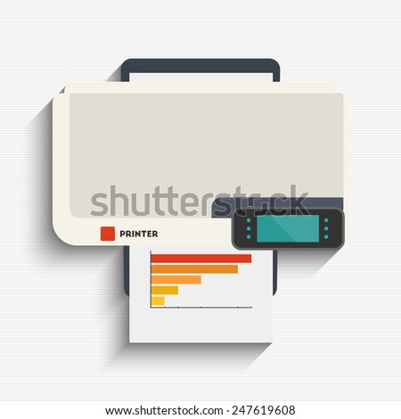 Vector illustration of printing printer for your design - stock vector