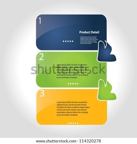 vector illustration of  progress steps for tutorial - stock vector