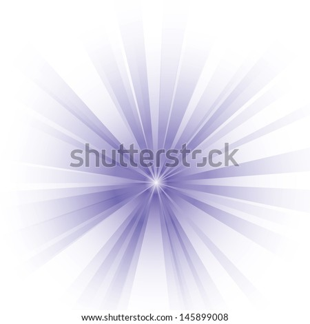 Vector illustration of purple burst. - stock vector