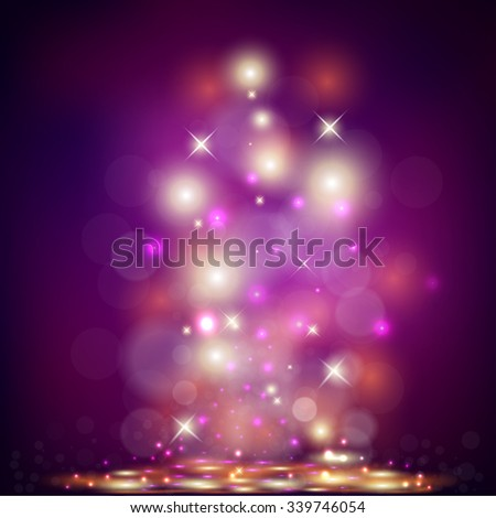 Vector illustration of purple Holiday Background  - stock vector