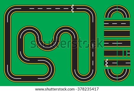 Vector Illustration of Racetrack Template