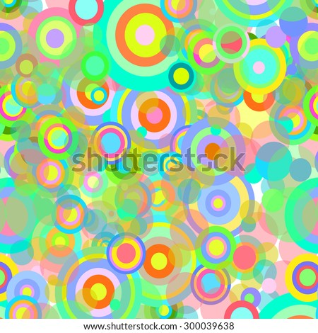 Vector illustration of rainbow-colored circles, wallpaper, pattern.