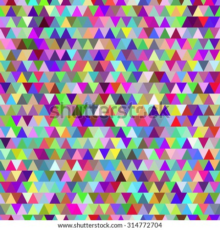 Vector illustration of rainbow triangles seamless pattern background.