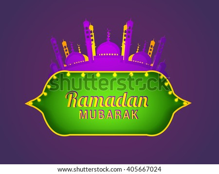 Vector illustration of Ramadan Kareem with text space background. - stock vector