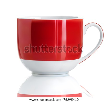 Vector illustration of Realistic Cool red tea cup over white background - stock vector