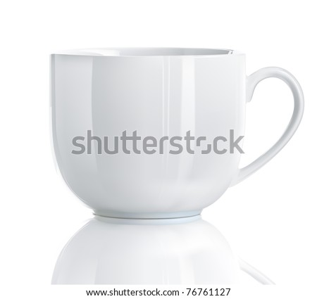 Vector illustration of Realistic Cool tea cup over white background - stock vector