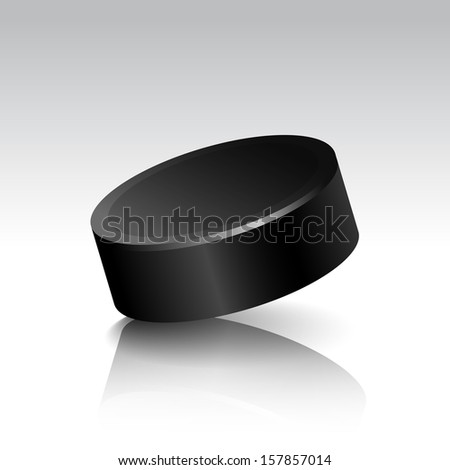 Vector Illustration of Realistic Isolated Hockey Puck - stock vector