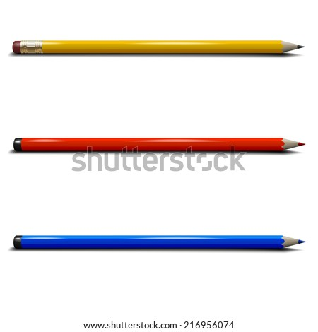 Vector illustration of realistic pencils - stock vector