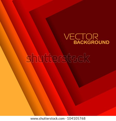 Vector illustration of red and yellow shiny abstract wave background.EPS 10. Can be use for banner, poster and business presentation. - stock vector