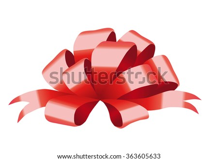 Vector illustration of red bow.
