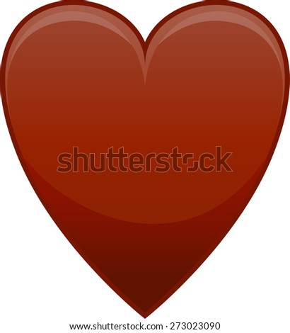 Vector illustration of red heart on white background - stock vector
