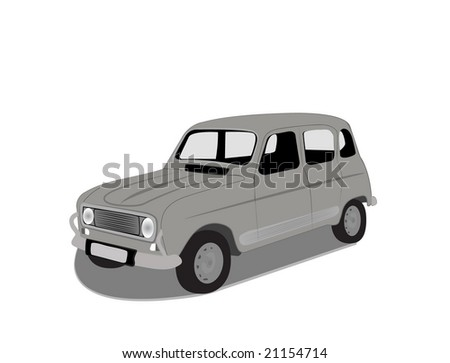 vector illustration of renault 4