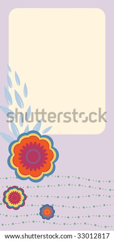 Vector Illustration of retro nature design greeting card with copy space for your text