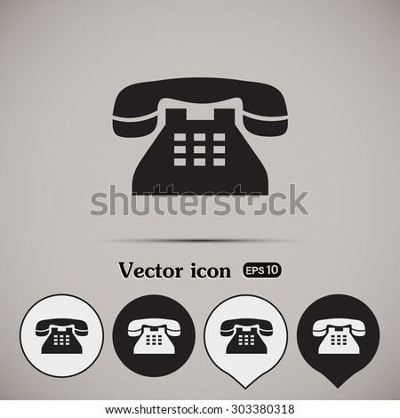 Vector illustration of retro phone - stock vector