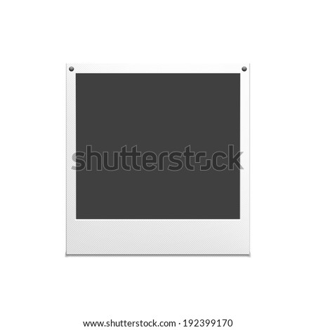 Vector illustration of retro photo frame - stock vector