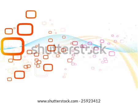Vector illustration of retro style Abstract background - stock vector