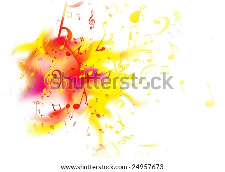 Vector illustration of retro style summer music Abstract background - stock vector