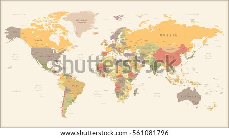 Vector illustration retro world map stock vector royalty free vector illustration of retro world map gumiabroncs Gallery