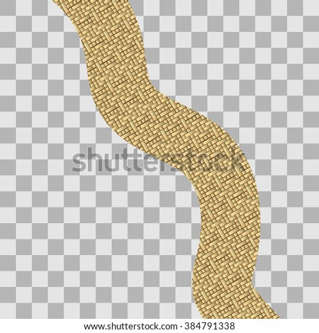 Vector illustration of road made of gold - stock vector