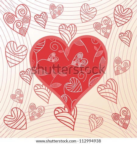 Vector illustration of romantic pattern background - stock vector
