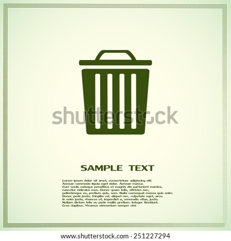 Vector illustration of rubbish bins
