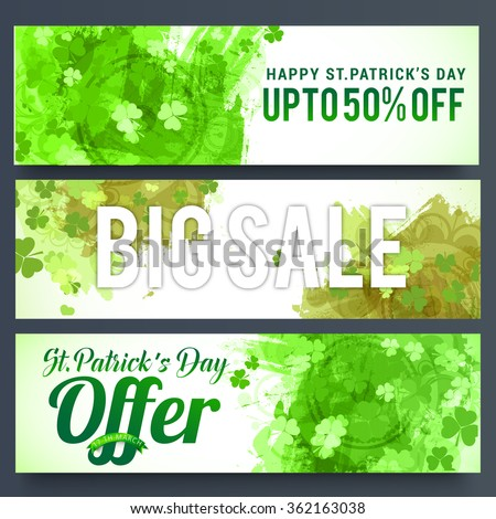 Vector Illustration of sale banner for St. Patrick's Day. - stock vector