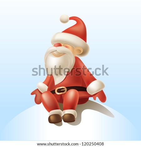 Vector Illustration of Santa Claus - stock vector