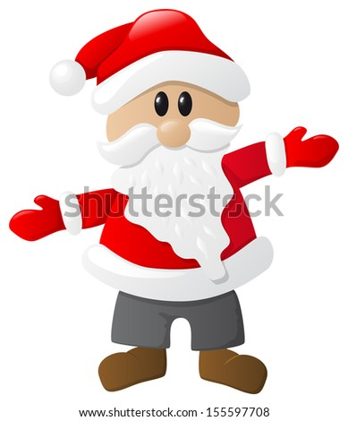 vector illustration of santa claus on white background