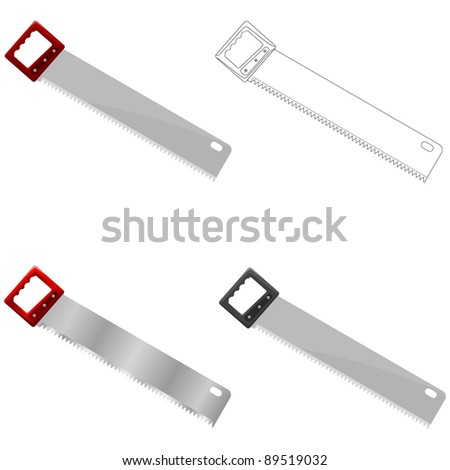 Vector illustration of saw - stock vector