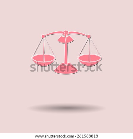 Vector illustration of  Scales color background. - stock vector