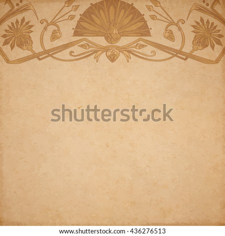 Vector illustration of scrapbooking parchment paper with egypt ornament