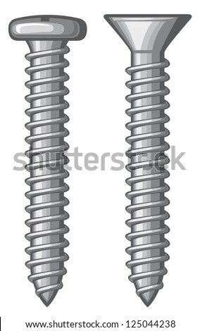 vector illustration of screws - stock vector