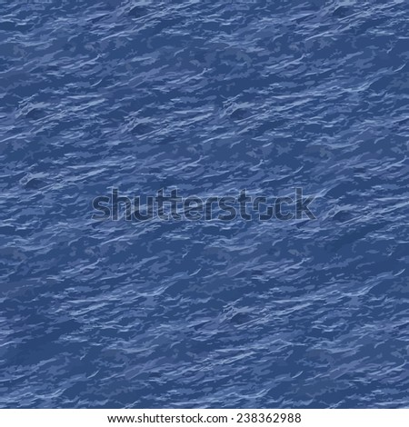 Vector Illustration of Sea Surface Seamless Pattern Background - stock vector
