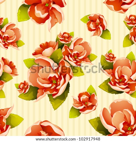 vector illustration of seamless colorful flower pattern - stock vector