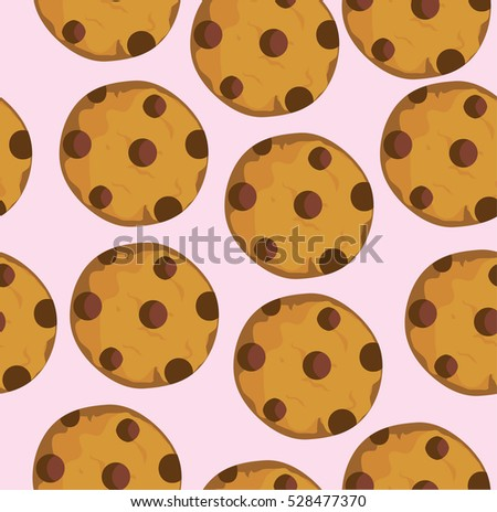 vector illustration of seamless cookie background
