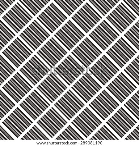 Vector illustration of seamless geometric black-and-white pattern